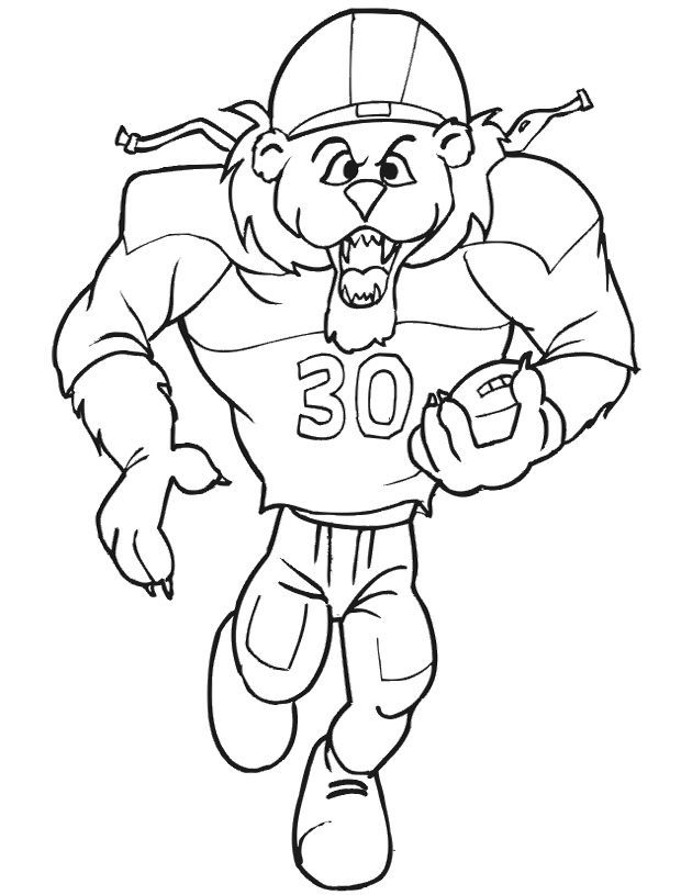 nfl football player coloring pages - photo#18