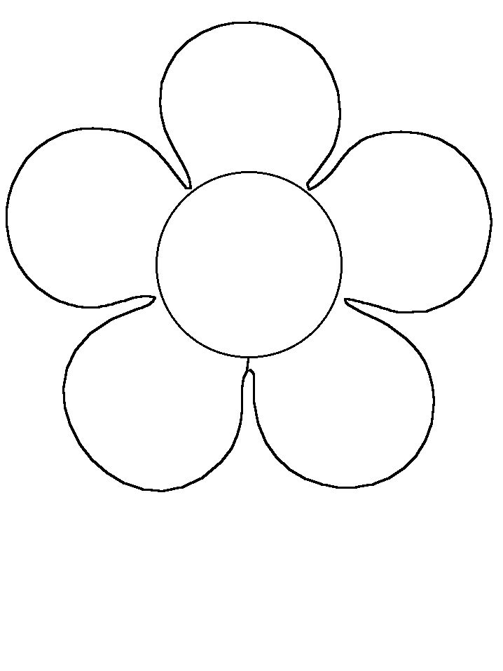 pre school flower coloring pages - photo#25