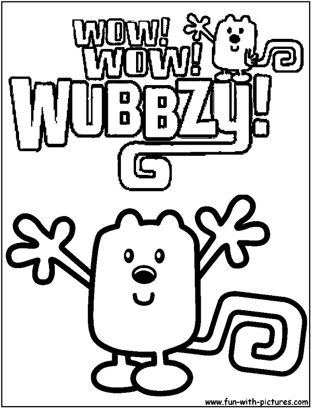 wubbzy coloring pages free - photo#8