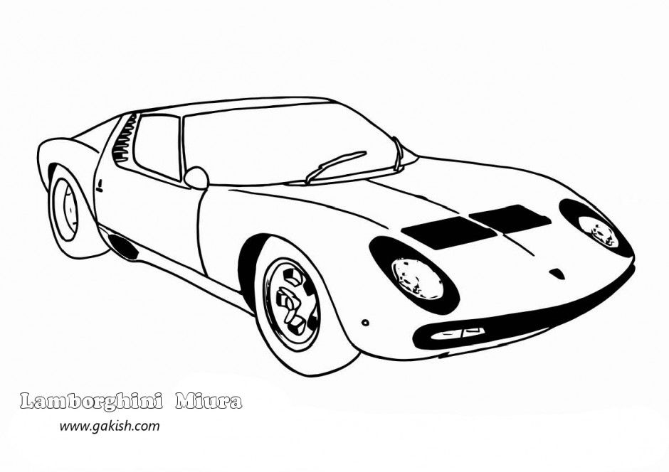 Coloring Pages Of Lamborghini - Coloring Home