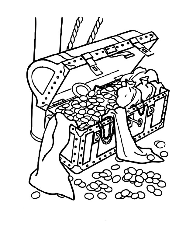 Coloring Pages Disney Pirates Caribbean : Pirate treasure coloring pages az