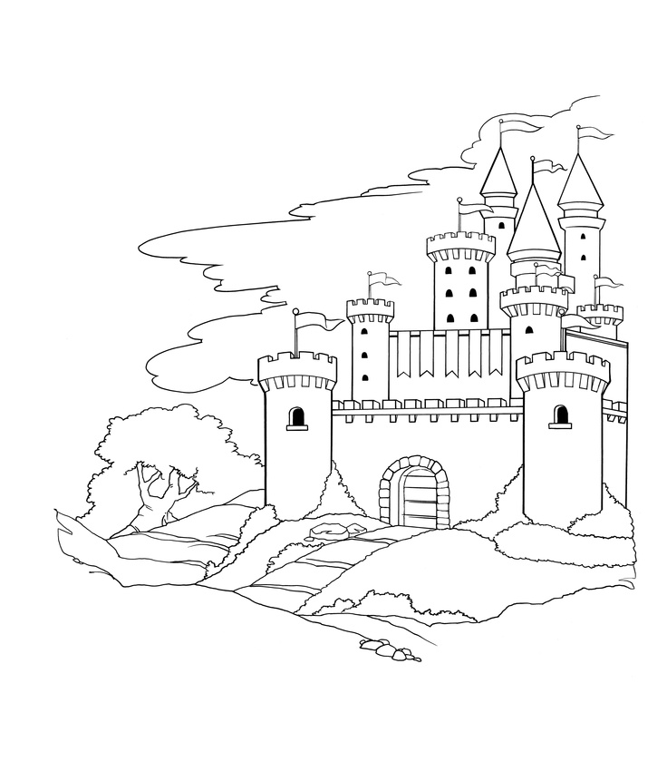 Castle Coloring Pages: Knights And Castles For Kids