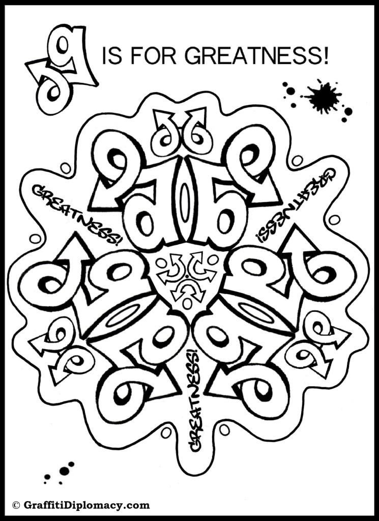 coloring graffiti pages online - photo#39