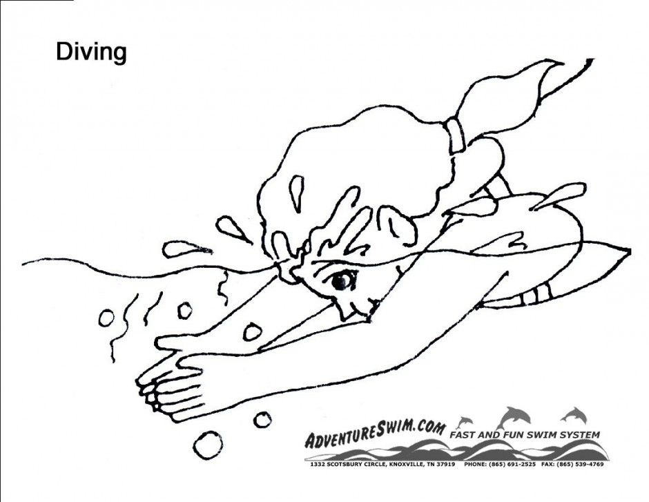 coloring pages swimming pool - photo#32