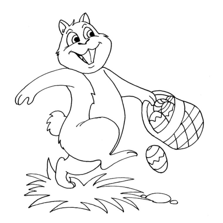 coloring page squirrel happy « Images Net Hd Wallpaper