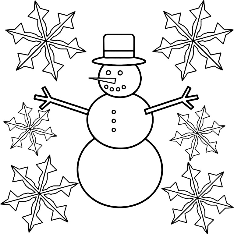 Snowflakes coloring page az coloring pages for Snowflakes printable coloring pages