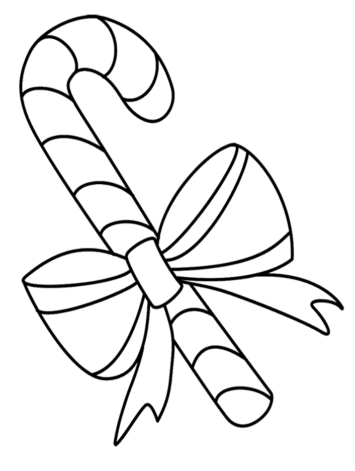 Printable Pictures Candy Cane Coloring Pages
