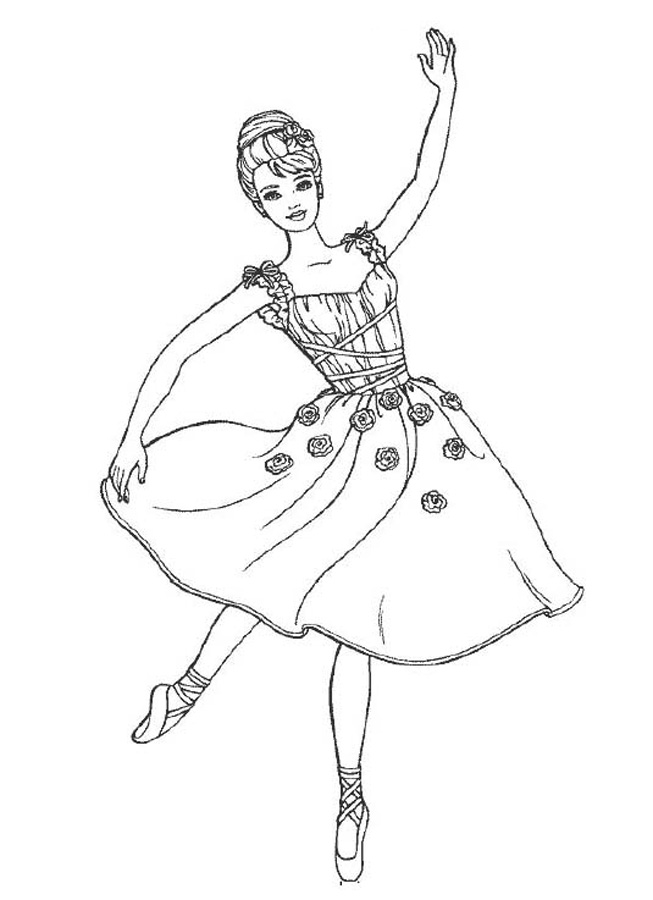 kids dancing coloring pages - photo#23