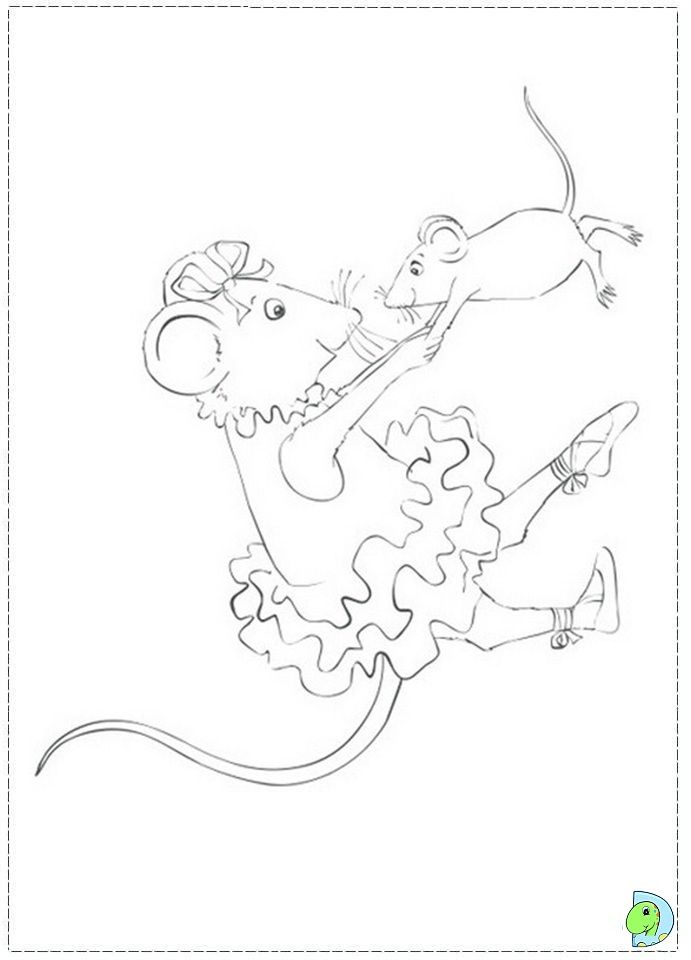 Angelina coloring pages coloring home for Angelina ballerina coloring page