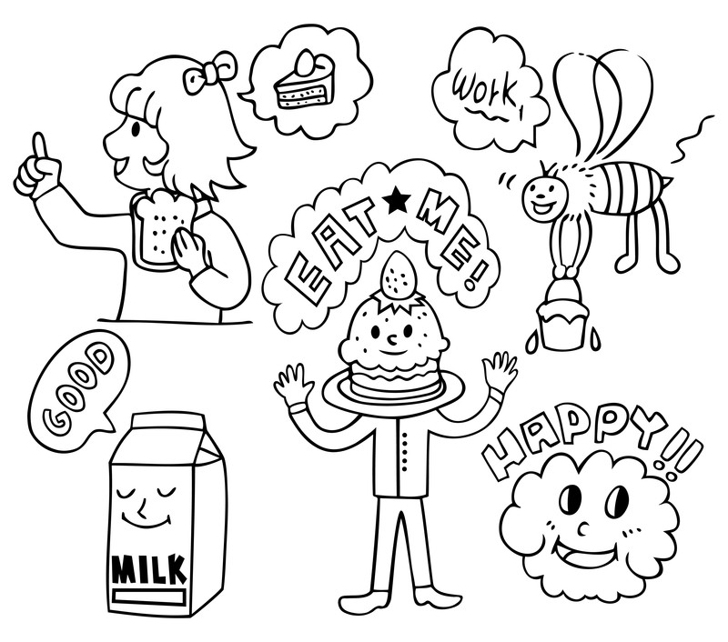 Healthy Foods For Kids Coloring Pages coloring pages pictures