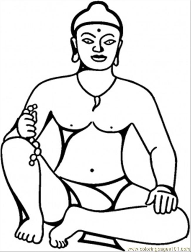 fat buddah coloring pages - photo#39