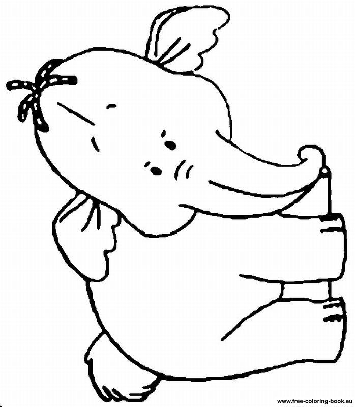 pooh heffalump coloring pages | Lumpy The Heffalump Coloring Pages - Coloring Home