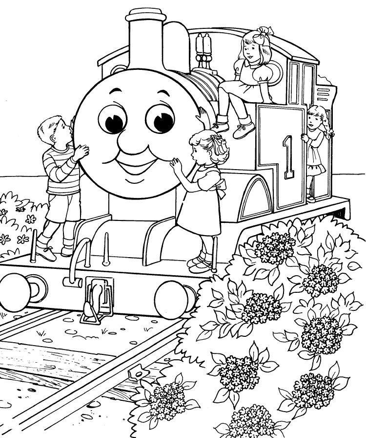 Printable thomas the train coloring pages az coloring pages for Thomas printable coloring pages