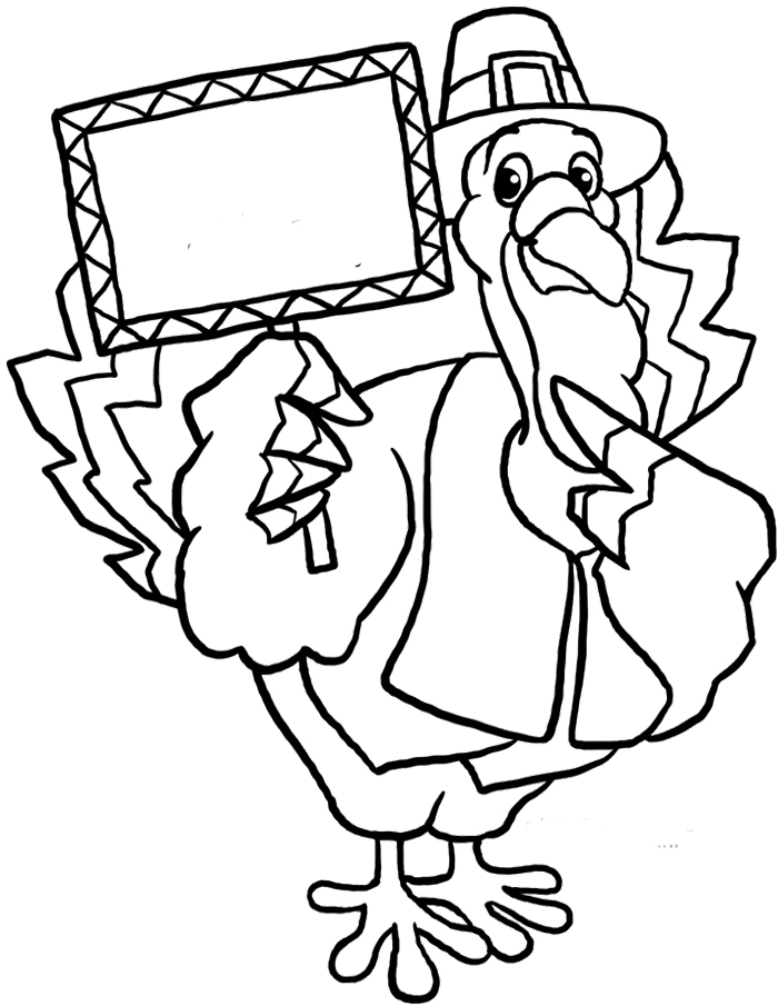 thanksgiving cartoon turkeys coloring pages - photo#25