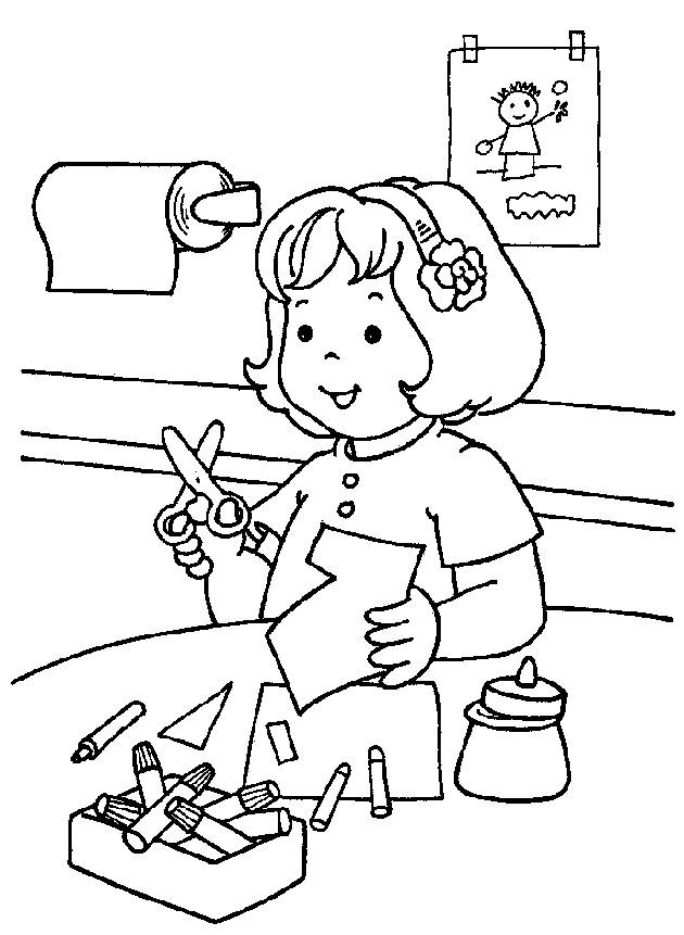 coloring pages for preschool graduation - photo#18