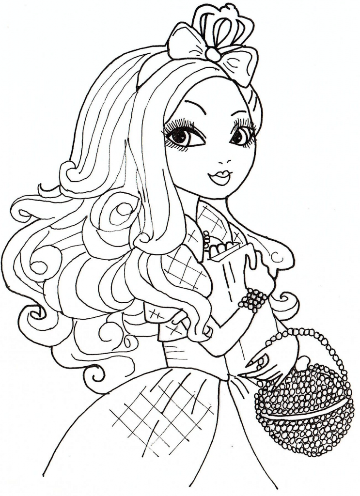 The Gallery For Gt Ever After High Coloring Pages Apple White