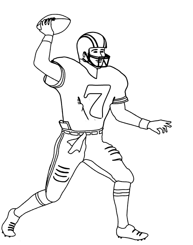 zombie football player coloring pages - photo#44