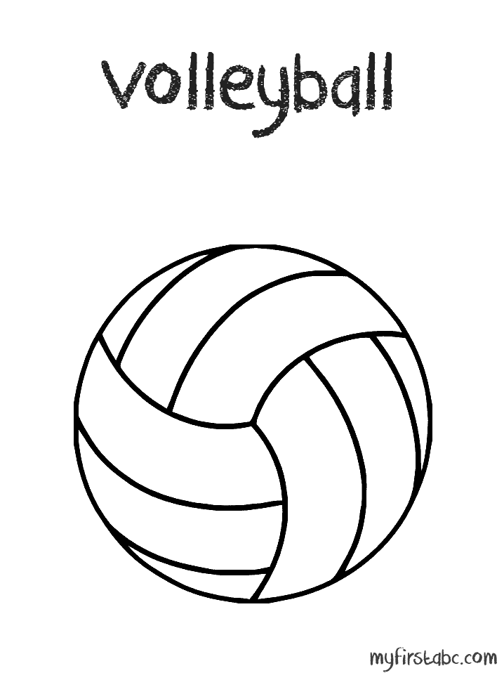 Volleyball Coloring Pages Coloring Home