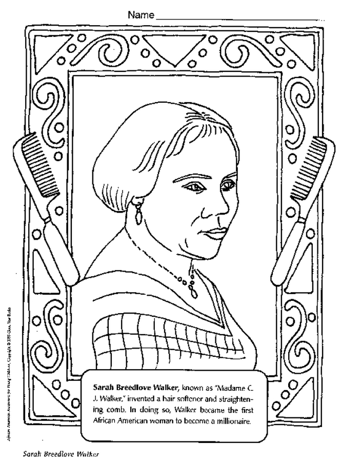 Black History Month Printable Coloring Pages Az Coloring Black History Coloring Pages