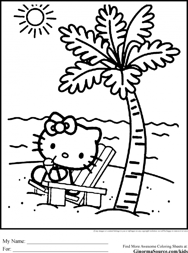 Hello Kitty Hawaiian Coloring Pages : Luau coloring pages home