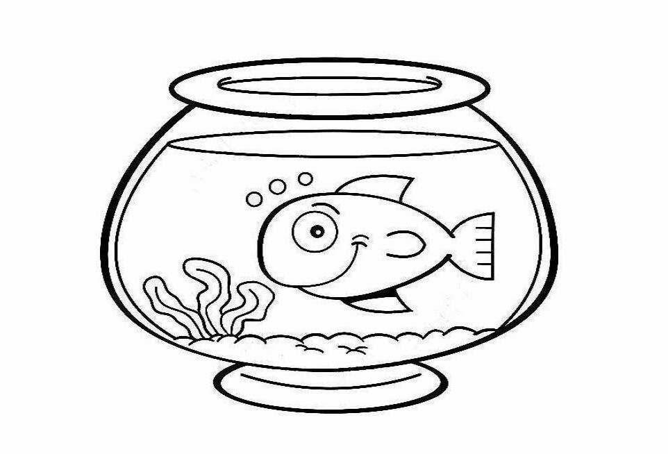 fish as pets coloring pages - photo#33