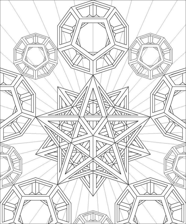 fractal coloring pages for kids - photo#35