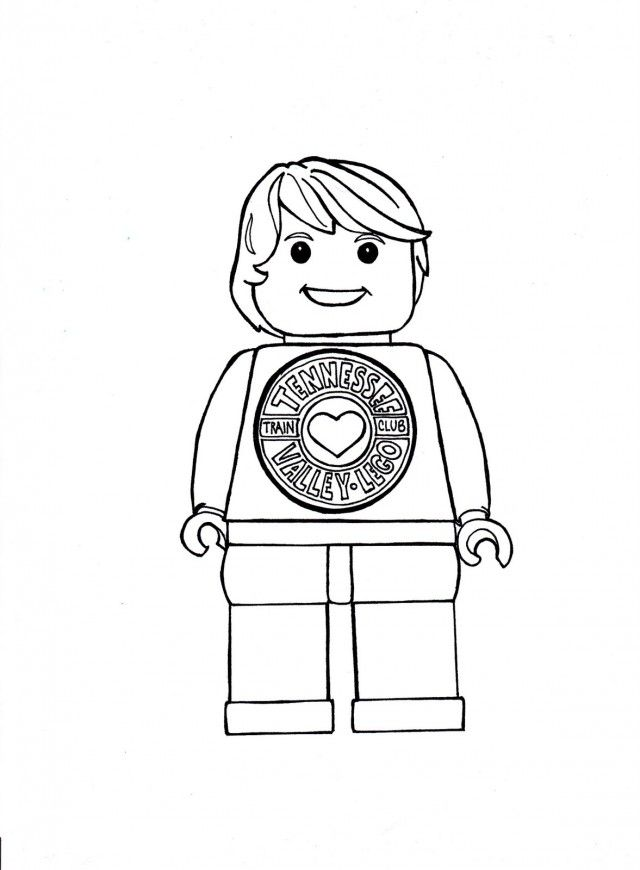 Lego Man Coloring Pages - Coloring Home