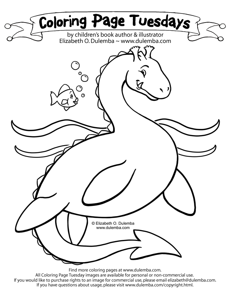 dulemba: Coloring Page Tuesday! - Sea Serpent