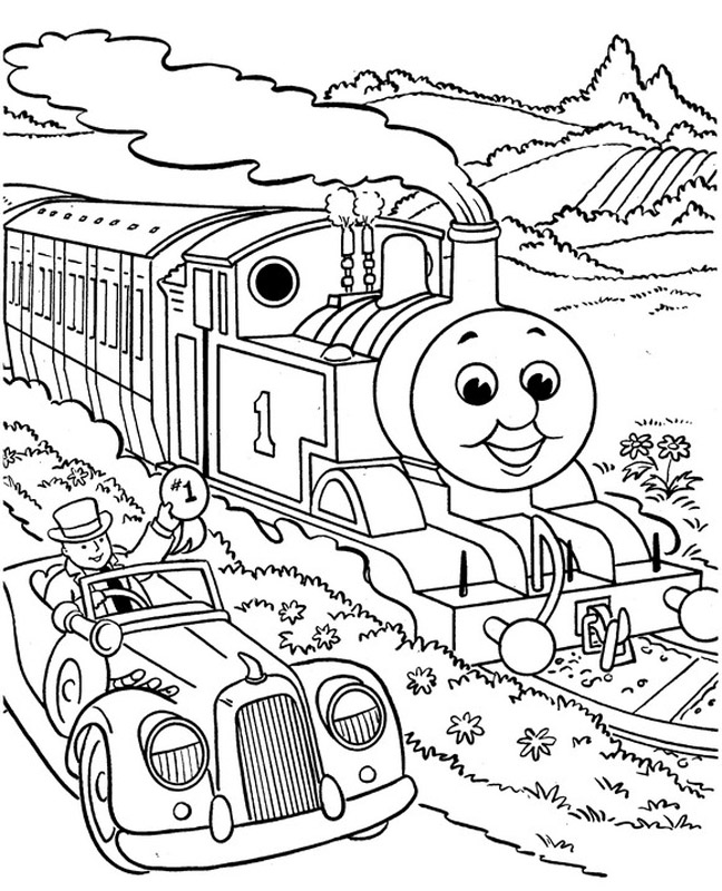 Thomas the train coloring pages for kids az coloring pages for Thomas the train color page