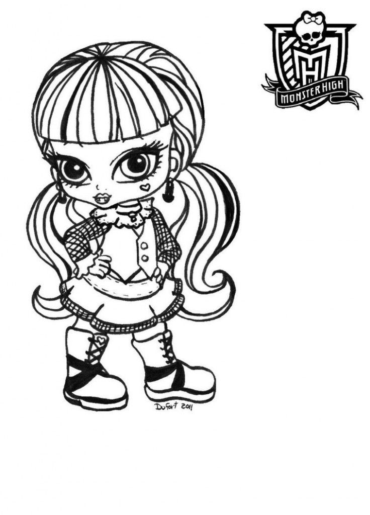 halloween monster high coloring pages - photo#9