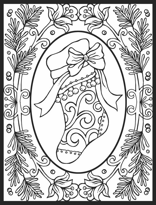 free vintage christmas coloring pages - photo#9