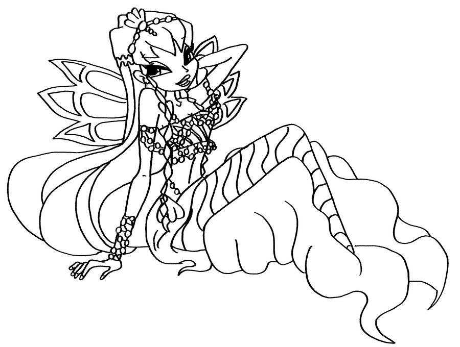 Coloring Pages For Winx Club : Winx club coloring pages enchantix az