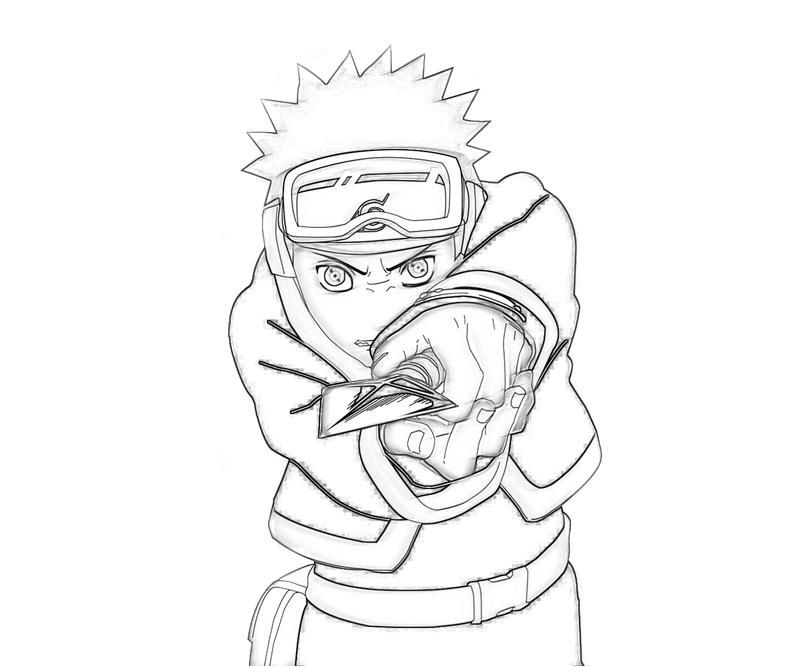 Naruto in Action Coloring Pages : New Coloring Pages
