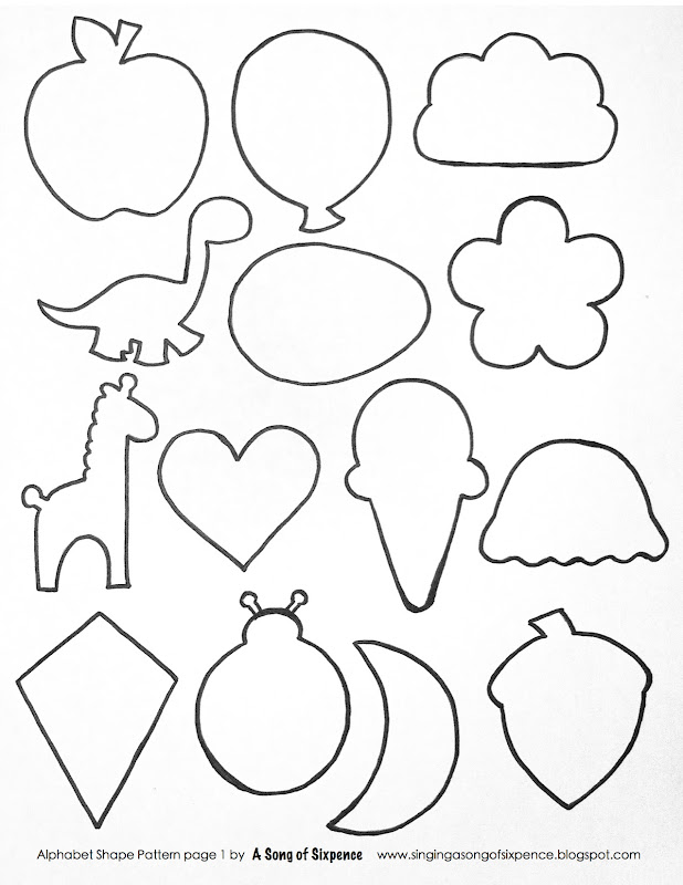 christmas shapes coloring pages - photo#32