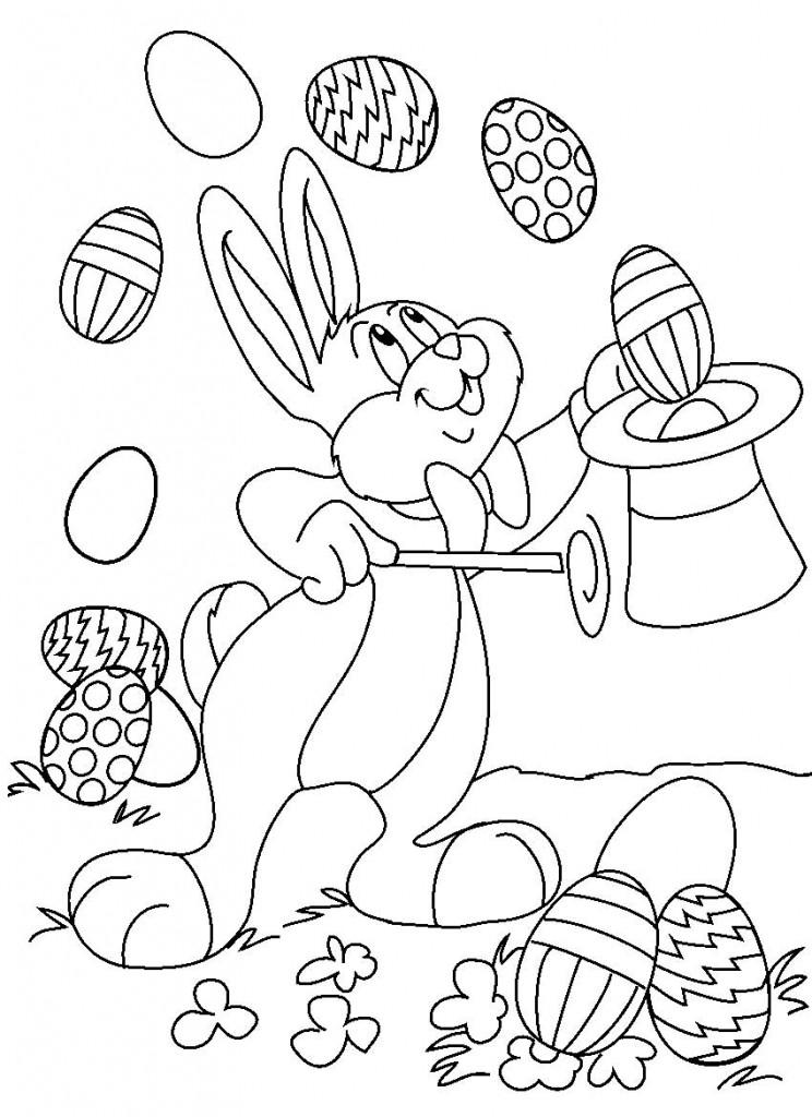 Easter Bunny Cartoon AZ Coloring