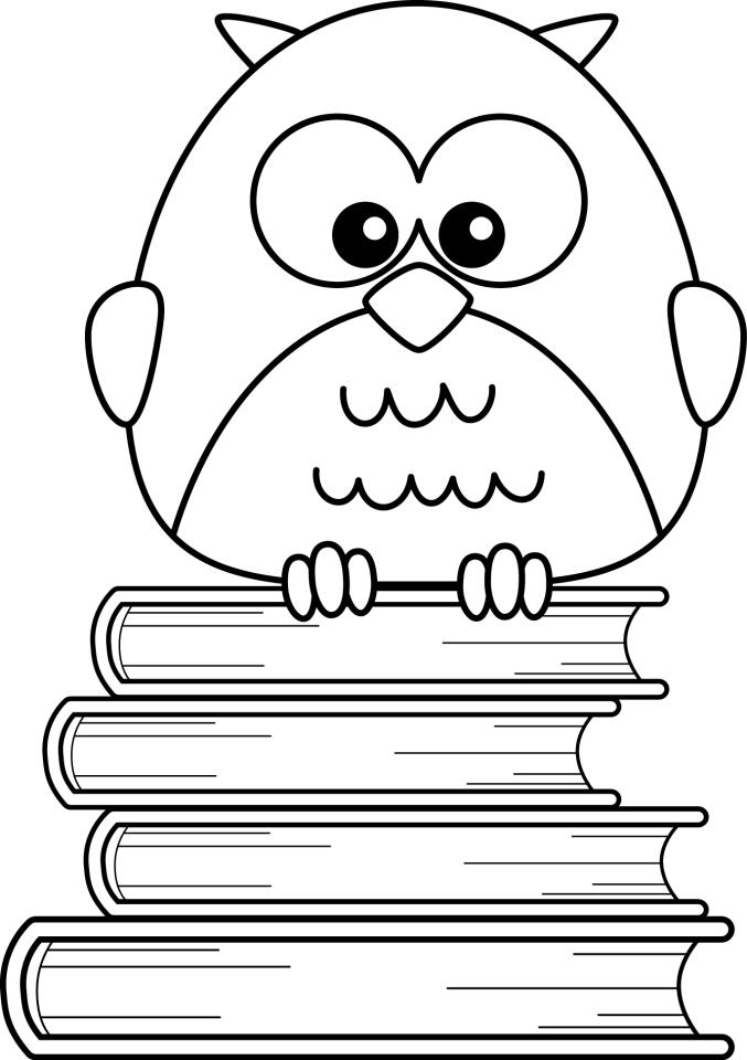coloring pages of kids reading - photo#13