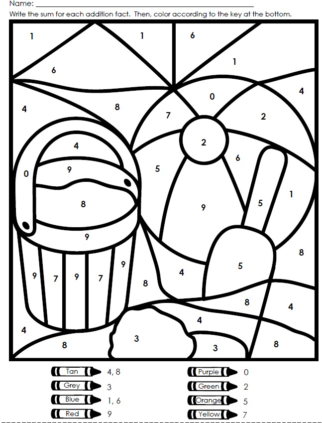 Free Color By Number Worksheets : Color by number worksheets free az coloring pages