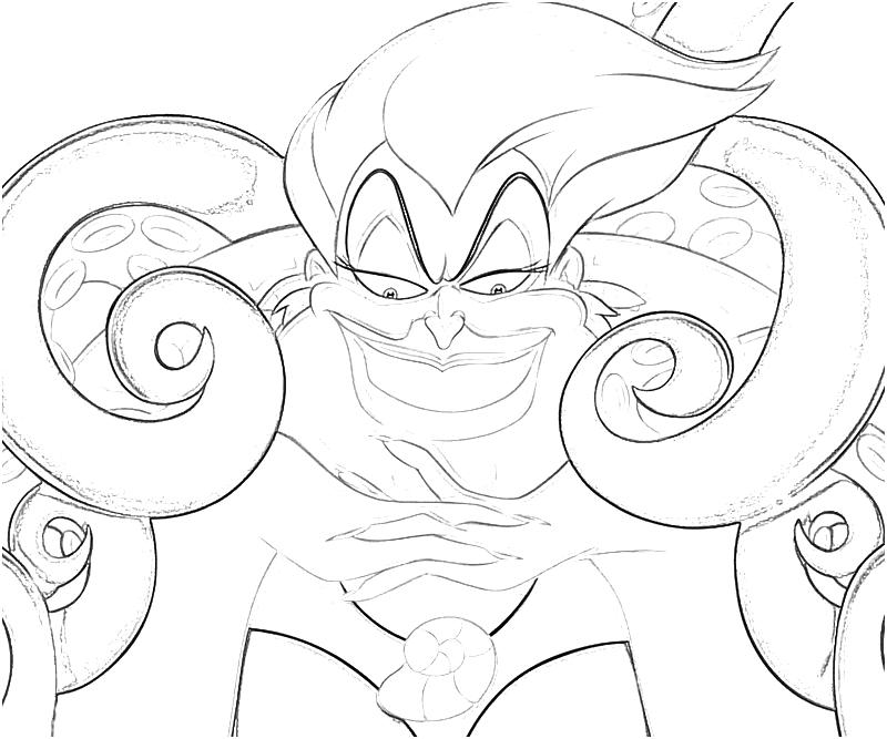 Ursula Coloring Pages Coloring Home Ursula Coloring Pages