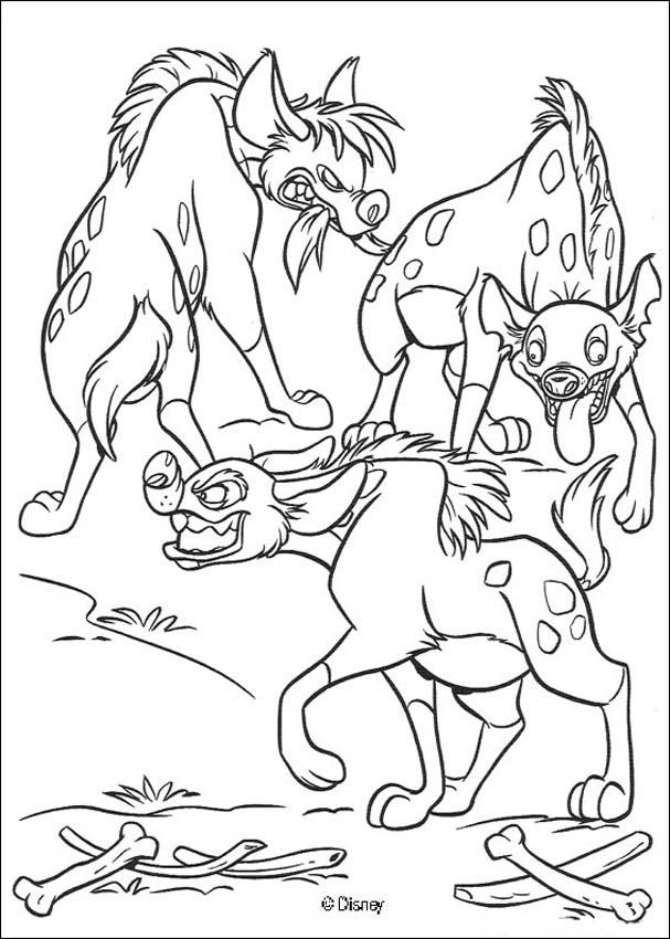 The Lion King coloring pages - Three hyenas