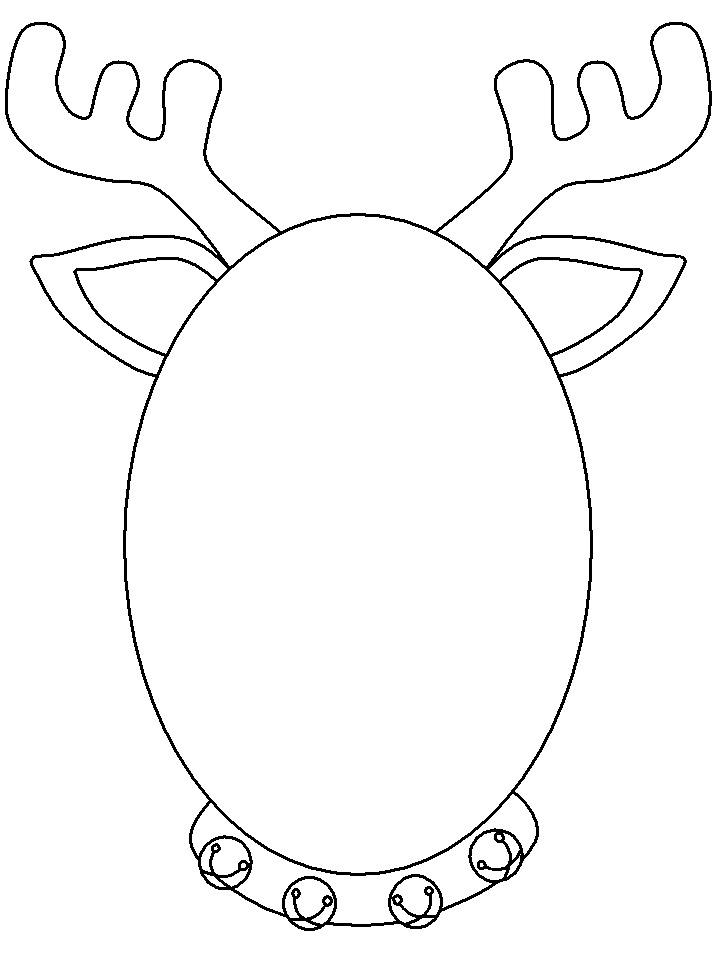 reindeer template cut out - free coloring pages of reindeer mask