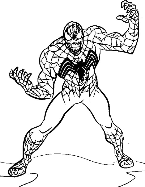 spiderman 3 venom coloring pages - photo#26
