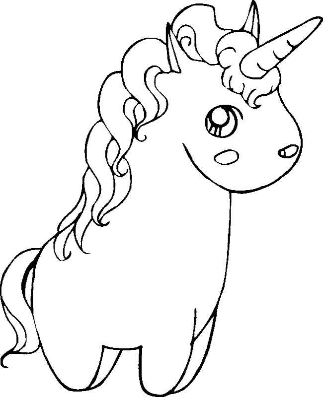 Coloring Pages For Unicorns : Cute unicorn coloring pages az