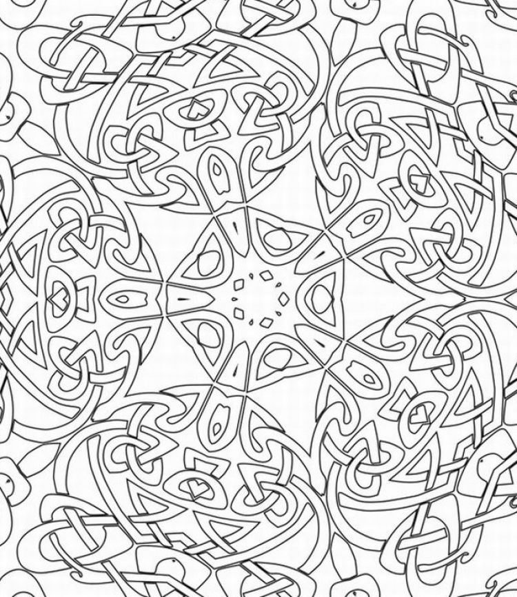 Hard Printable Coloring Pages For Adults - Coloring Home