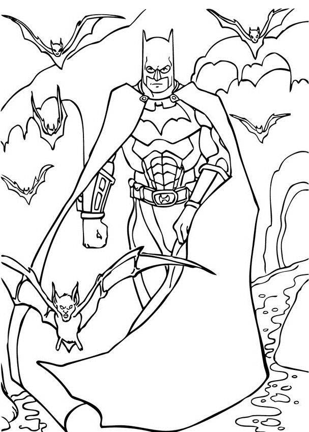 Free Batman Coloring Pages for Kindgarten - Superheroes Coloring
