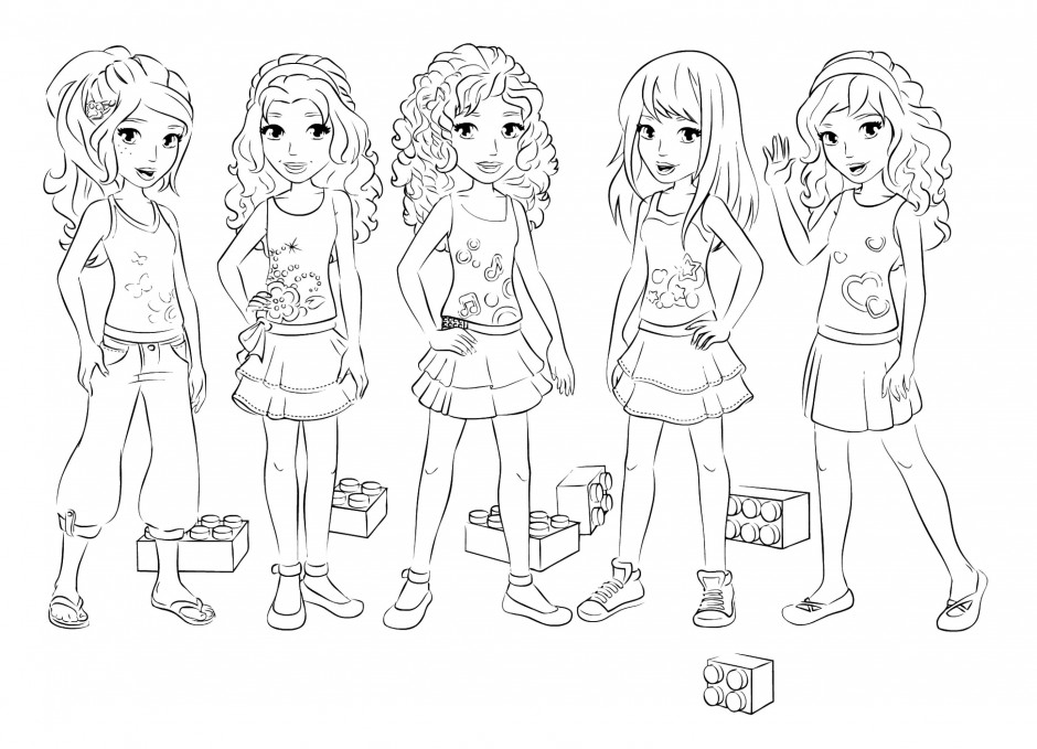 Printable Coloring Pages Lego Friends : Lego Friends Coloring Pages AZ Coloring Pages