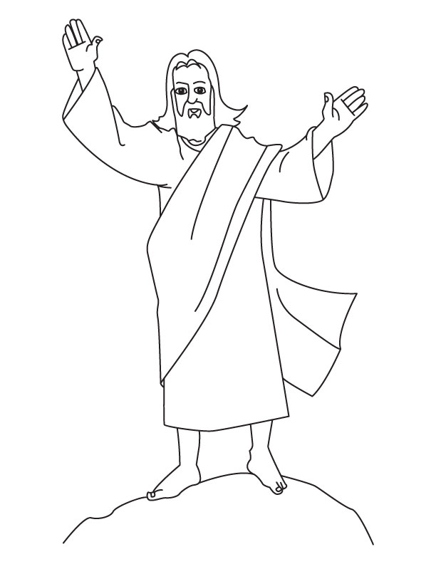 Coloring Pages To Print Of Jesus : Color pages of jesus az coloring