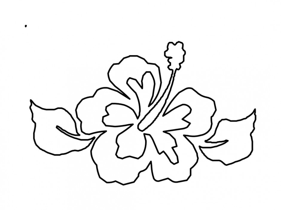 printable hawaiian flowers coloring pages - photo#6