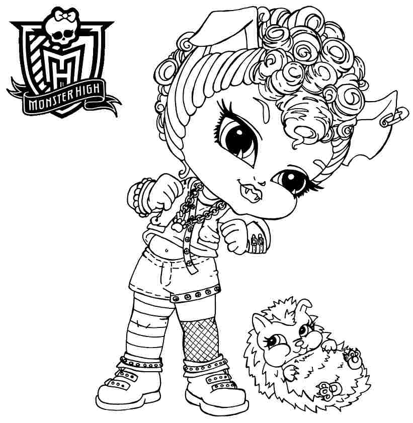 Monster High Baby Coloring Pages Az Coloring Pages High Babies Coloring Pages