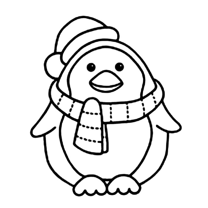 free printable coloring pages penguin-#17