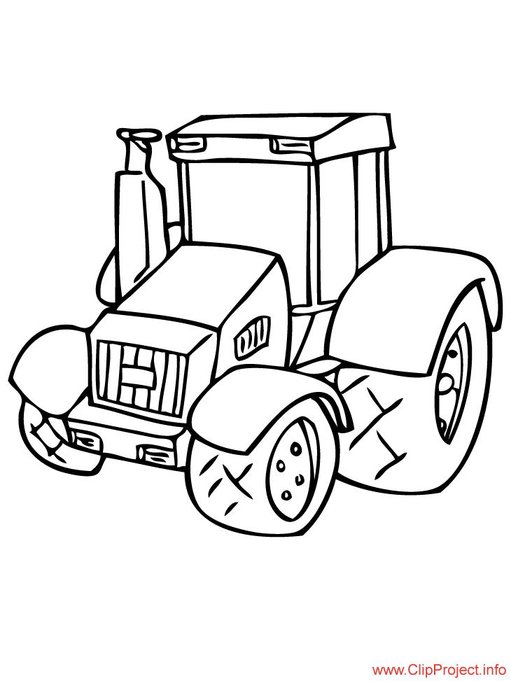 Трактор раскраска для малышей - 1